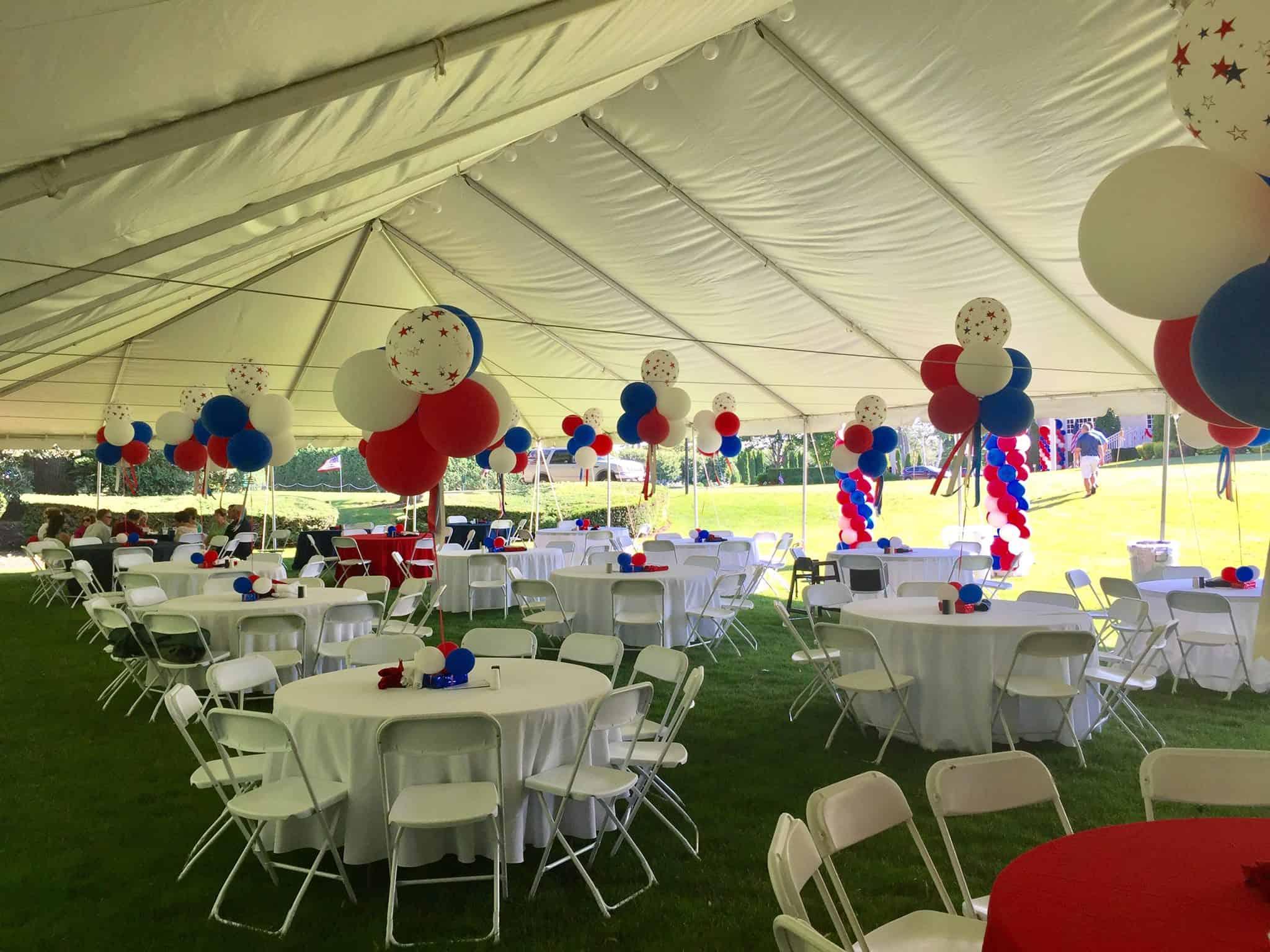 fourth of july tent rental setup