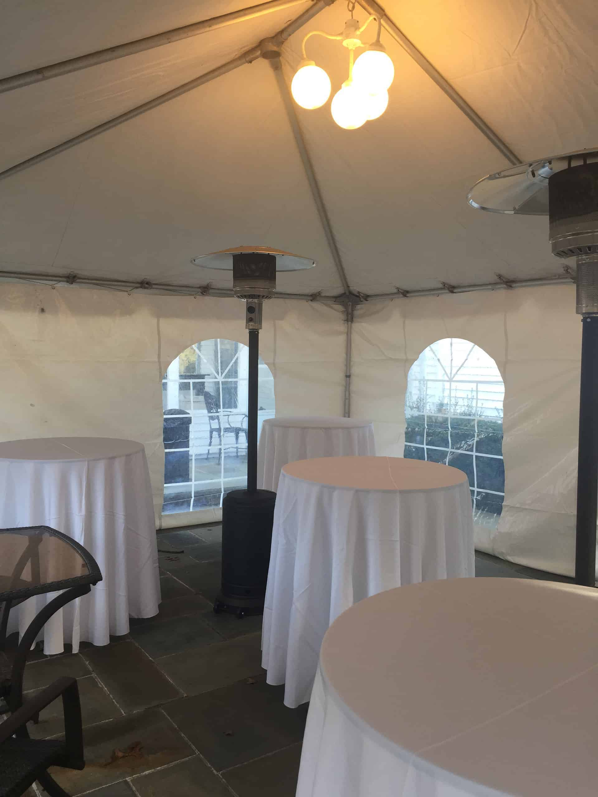 heaters added to tent rental