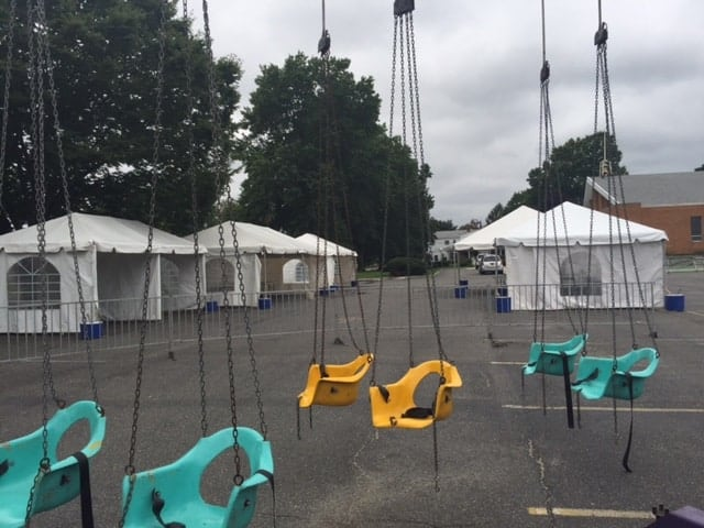 tent rental setup for carnival