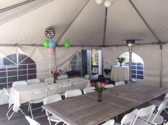 birthday heated tent rental