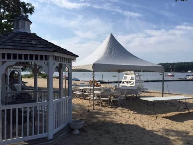 hi top tent rental on beach