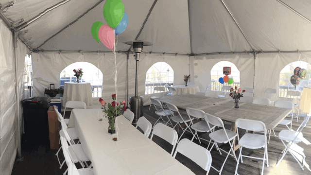 residential home tent rental