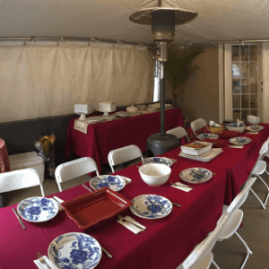 birthday party tent rental with heater