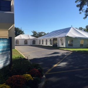 huntington hospital tent setup
