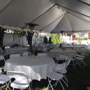 party tent rental in backyard
