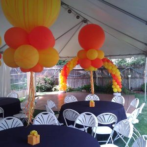 spring tent event set-up